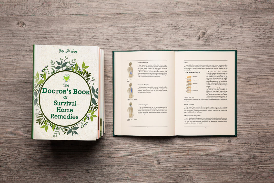 The Doctor's Book of Survival Home Remedies open book